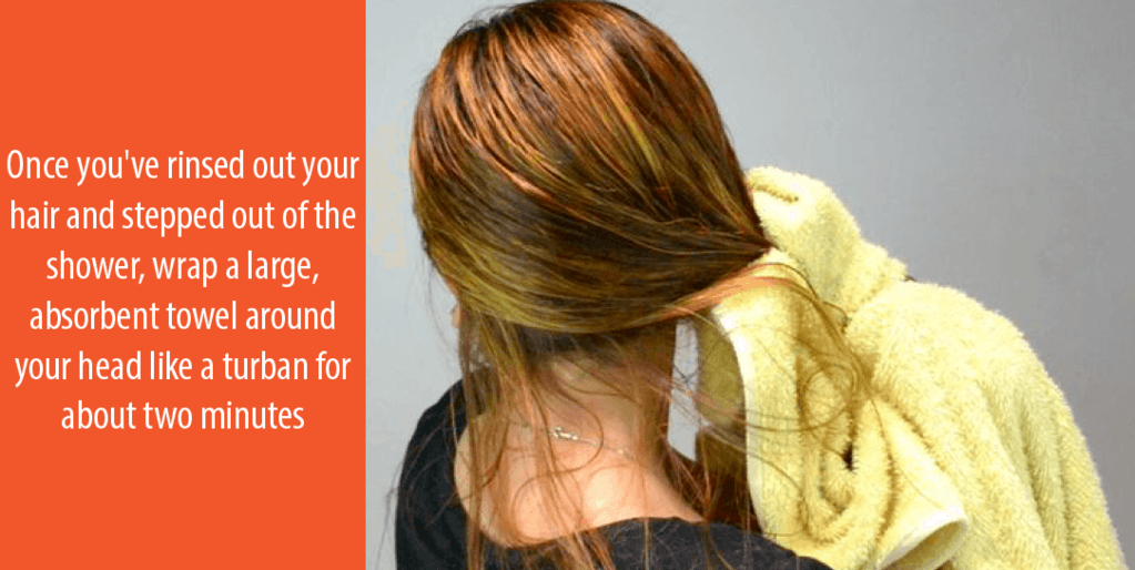Remove all the shampoo and conditioner from the hair totally