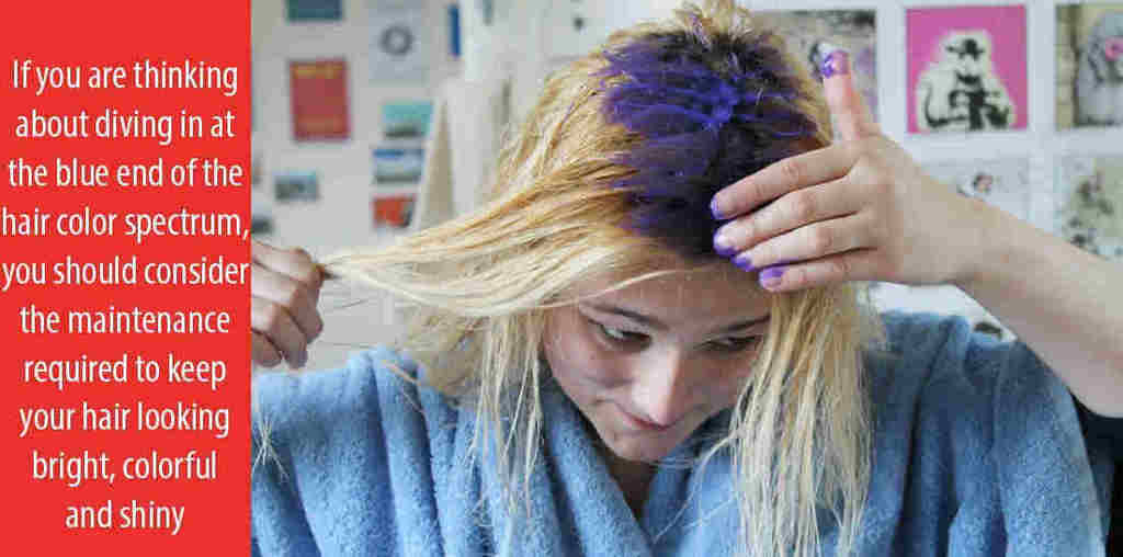 how to use blue hair dye