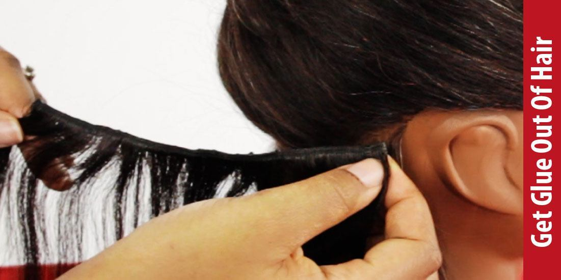 how to get glue out of hair