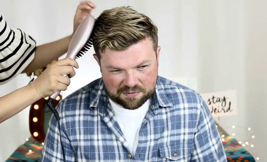 How to Straighten Curly Hair for Men